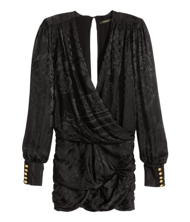 Jacquard-weave Silk Dress Rp1,999,000