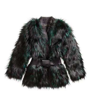 Faux Fur and Leather Jacket  Rp1,899,000