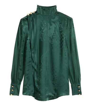 Jacquard-weave Silk Blouse Rp1,199,000