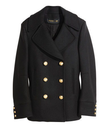 Peacoat in a wool blend Rp1,999,000